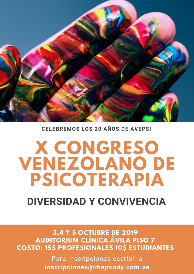 Flyer (inscripciones)X Congreso Vzlano Psicoterapia