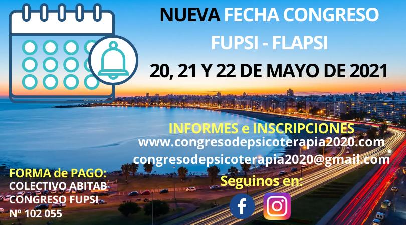 Reprogramado El XIII Congreso Latinoamericano /IV Congreso Uruguayo/II Congreso Regional De Psicoterapia