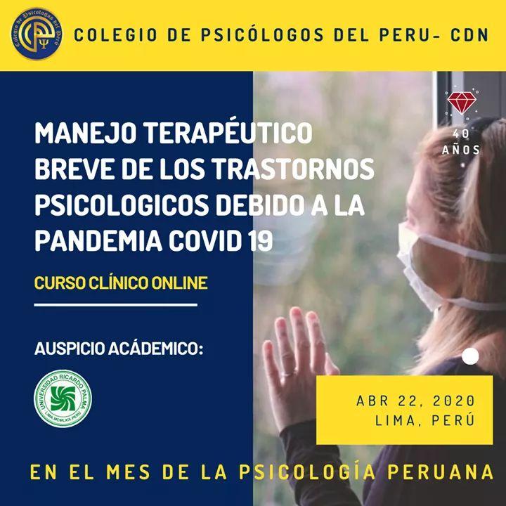 Manejo Terapéutico Breve De Los Trastornos Psicológicos Debido Al COVID-19