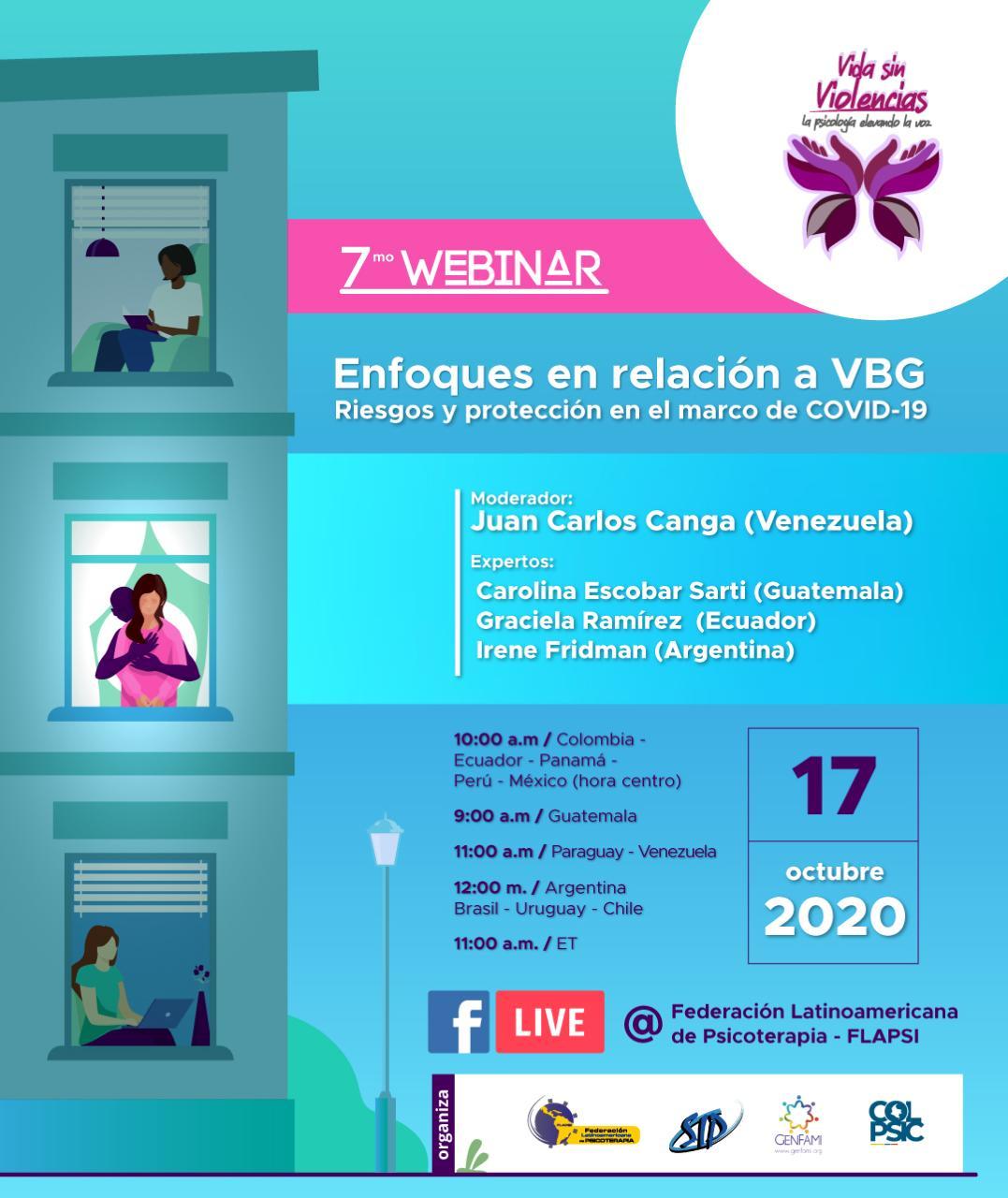 Webinar # 7 Enfoques En Relación A Violencias Basadas En Género. Riesgos Y Protección En El Marco Del COVID-19